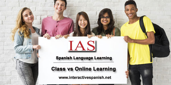 Learning Language in a Class vs Online Learning